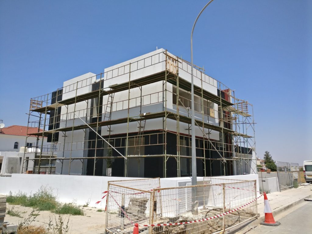 architects nicosia lefkosia leukosia architecture house residence nzeb low energy building under construction