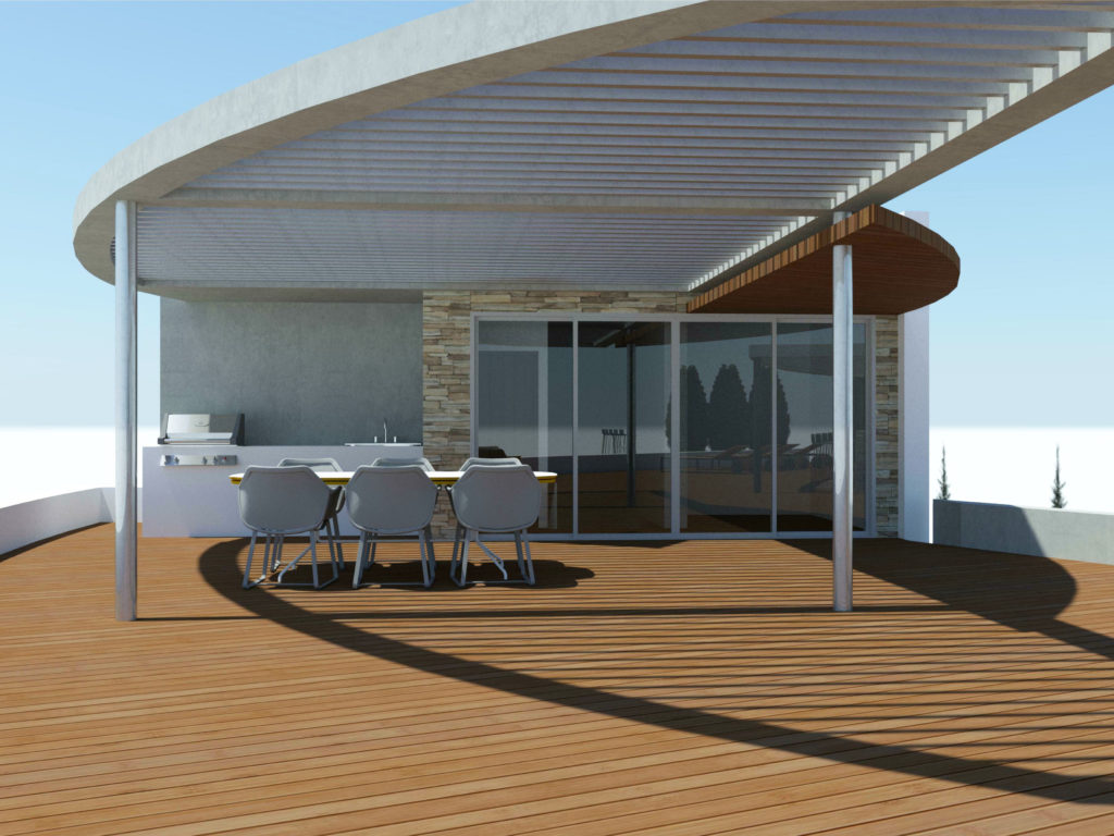 roof garden bar villa paphos architect architecture